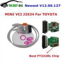 Newest V12.00.127 Mini VCI Interface For Toyota TIS Techstream J2534 22 Pin OBDII Diagnostic Scanner MINI-VCI Diagnostic Tool