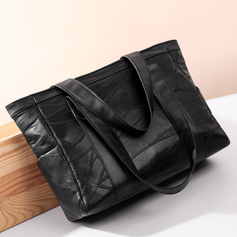 Women Messenger Bags Large Size Female Casual Tote Bag Solid Leather Handbag Shoulder Bag<br>