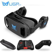 UGP U8 VR Glasses 3D Headset version IMAX Virtual Reality Helmet 3D Movie Games With Headphone 3D VR Glasses optional controller(China)