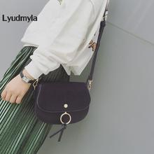LYUDMYLA Women Suede Bag Crossbody Messenger Bags Small Vintage Saddle Bag 2017 Trend Summer Shopper Handbags Ladies Girls