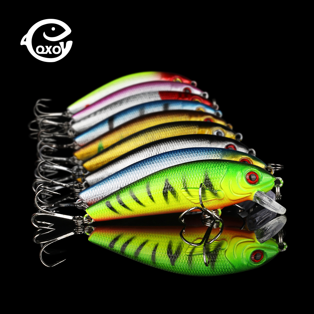 QXO 9g 7.5cm Lure Minnow Metal Winter Hard Goods For Fishing Ice Duck Shrimp Shad Pva title=