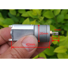 Stable Small Mini Geared Metal Motor DC 3-12V Mayitr Durable Low Noise Motors 75-300 RPM Low Speed Slow Homemade Project