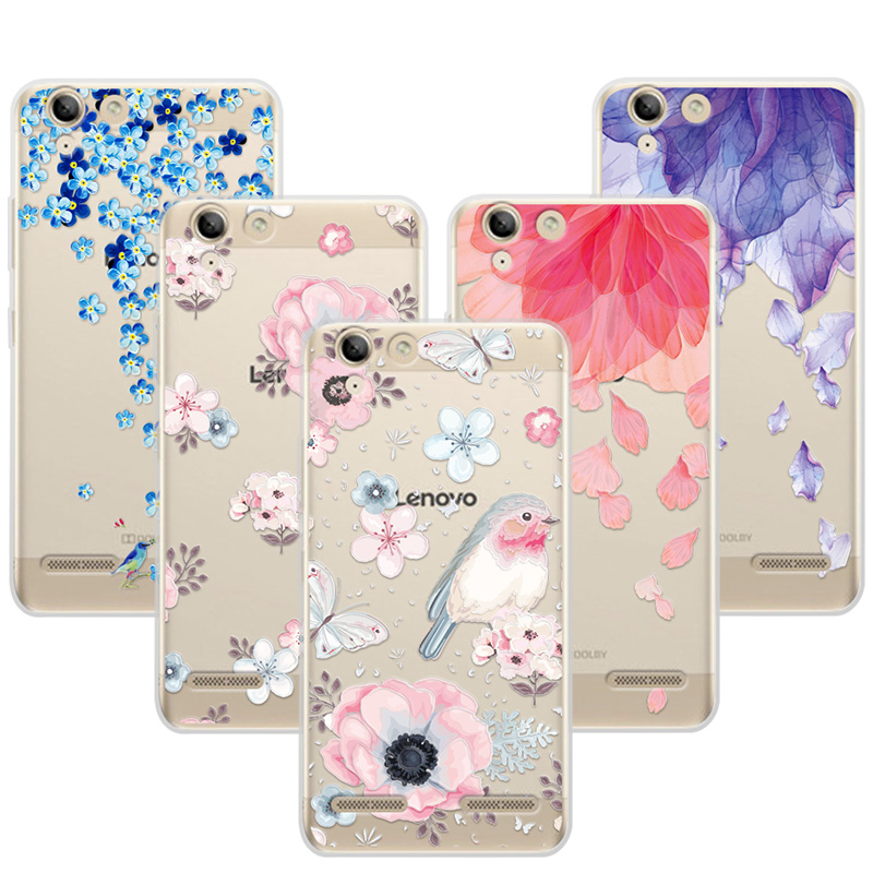 3D Art Print Case Coque Lenovo vibe K5 5.0 inch Soft TPU Flower Lace Relief Phone Cases Cover Lenovo K5 Plus Funda Capa