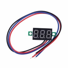 Digital Voltmeter 0.36inch Red LCD DC Voltmeter Three Wires Power Supply 5-30V Panel Meter