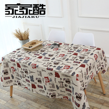 2017 New Cotton Tablecloth Printed Tower Linen Customized Simple Furniture Dust Proof Covers DIY Fabric Rectangular Table Cloth