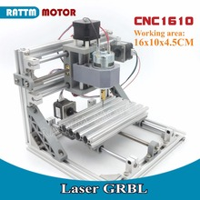 EU Delivery! 1610 GRBL control DIY mini CNC machine working area 160x100x45mm 3 Axis Pcb Milling machine,Wood Router, v2.4(China)