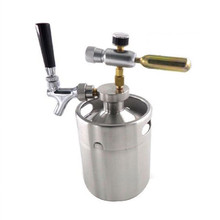 Stainless Steel mini Growler Spears Beer Spear with Adjustable Tap Faucet With CO2 Injector for 2L 3.6L 5L Beer Growlers