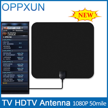 HDTV Antenna Amplifier TV Antenna Outdoor TV Antenna 50 Mile Range F Male with High Signal Amplifier