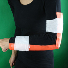 11cm*46cm Emergency Kits Survival Medical Multi-use Orange & Blue Aluminum Training Splint fixed First Aid Kit Bandage Roll Pet(China)