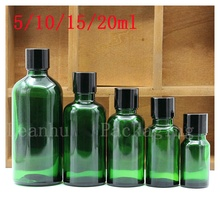 Wholesale Various Capacity of Green Glass Essential oil Bottle,Female Beauty &Skin Care Little Tool,Cosmetic Packaging Bottle
