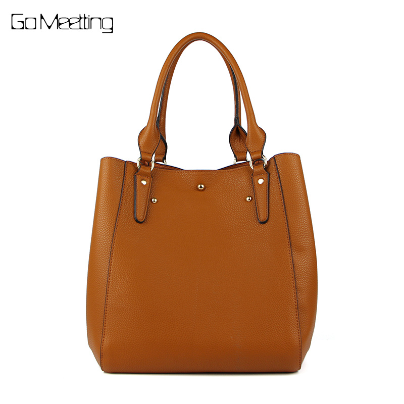 Go Meetting brand new casual female tote composite handbag ladies pack hotsale simple large capacity fresh women shoulder bag<br>