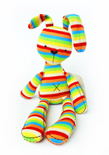 50cm Baby Toys Rainbow Bunny Rabbit With Tags CE Length Cute Lovely Plush For Kids(China)