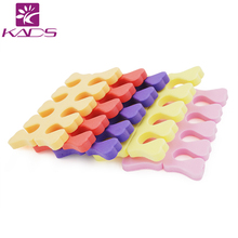 KADS New Arrival 2pcs/set Pretty Good Nail Toe Separator Foam Design Five Colors Optional Porfessional  DIY Nail art tools