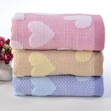100% Cotton Face Towel Heart Pattern Soft Super Absorbent Cotton Body Cloth Towels Quick Absorbent Towel Christmas Gifts(China)