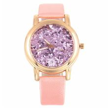 Womens Fashion Picture Design Leather Band Analog Alloy Quartz Wrist Watch E#821(China)