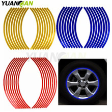 Motorcycle Styling Wheel Hub Rim Stripe Reflective Decal Stickers Safety Reflector For YAMAHA HONDA SUZUKI KTM KAWASAKI BMW