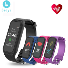 L38i Bluetooth Smart Band Bracelet Women Dynamic Heart Rate Color LCD Screen Pedometer Fitness Tracker for Smartphone Waterproof