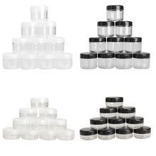 Black/Clear 10g/20g 10Pcs Plastic Empty Box Nail Art Cosmetic Bead Gems Storage Case Bottle Pot H7JP(China)