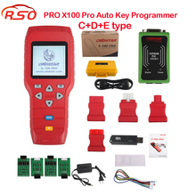 Newest X-100 PRO Auto Key Programmer (C+E+D) Type for IMMO+Odometer+OBD Software Get PIC and EEPROM 2-in-1 Adapter Free Ship