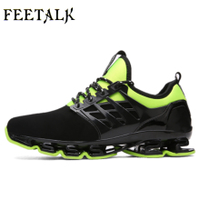 Man Sneakers Sports Shoes Leather Running Shoes Black/Red Jogging Sneakers Training Shoes Autumn/Winter Running Trainers