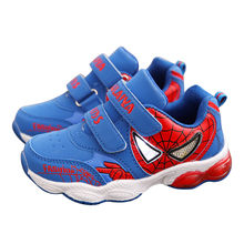 Children shoes spiderman boys brand sports shoes 2017 spring autumn kids leather running shoes boys casual school flash sneakers