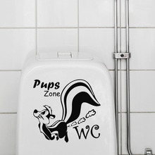 funny Squirrel toilet stickers wall decorations 362 diy vinyl adesivos de paredes home decal mual art waterproof posters(China)
