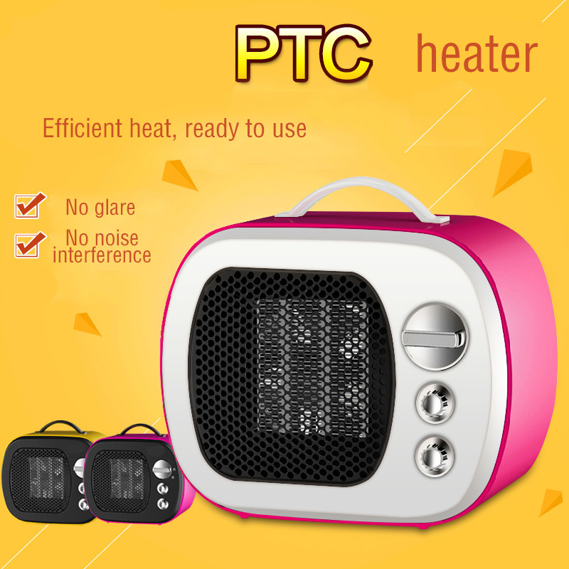Mini Audio Electric Heater PTC ceramic heating Adjustable Thermostat warmer hand  Student Table Warmer  Small Heater Gift<br>