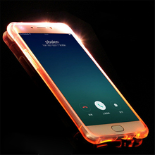 Soft TPU LED Case For Samsung Galaxy A3 A5 A7 2017 J1 J3 J5 J7 2016 S6 S7 Edge S8 Plus Flash Light Up Remind Incoming Call Cover