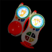 funny baby toys with sound and light Child music phone Learning Study Baby cell phone toys Educational toy promotion(China)
