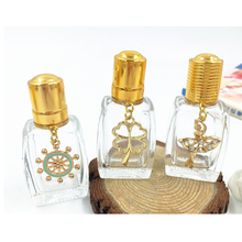 8ml Clear Roller Perfume Bottle with Pendant Refillable Empty Glass Fragrance Oil Bottle Makeup Cosmetic Vials 10pcs/lot DC860