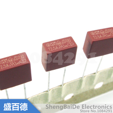 10pcs/lot Square Plastic Fuse 2.5A 250V 392 Square Fuse T2.5A250V LCD TV Power Board Commonly Used New Original
