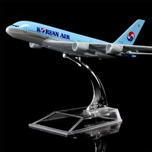 1:400 16cm Korean Airbus A380 Metal Airplane Model Office Decoration Toy Gift Idea(China)