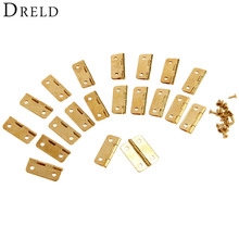 20Pcs 24x18mm Kitchen Cabinet Door Hinges for Caskets Furniture Accessories Drawer Hinges for Jewelry Boxes Furniture Fittings