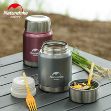 Naturehike 350ml Thermos Cup Stainless Steel Camping Cookware Vacuum Cup Travel Insulation Kettle Pot Outdoor Tableware