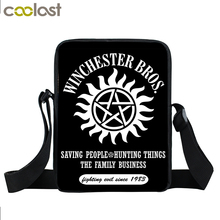 Supernatural Mini Messenger Bag Winchester Bros Sam Dean Cross Bag Boys Girls School Bags Bookbag Children Bags Kids Best Gift