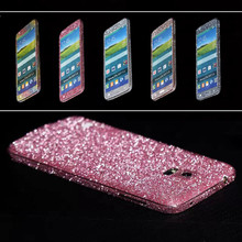 Bling 360 Degree Glitter Shiny Crystal Diamond Full Body Front and Back Wrap Decal Film Sticker Skin For Samsung Galaxy S5