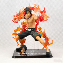 2017 how sale 15cm One Piece Portgas D Ace Battle Ver. Fire Fist Ace PVC Action Figure Collection Model Anime Toy Free Shipping