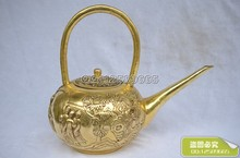 Chinese Four Beautiful Lady Copper Teapot Cooper Pot Feng Shui Ornaments Antique Bronze Collection Of Gifts