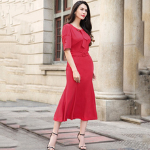 2017 Fishtail Women Tunic Sexy Bodycon Long Formal Gown Pretty Vestitos Elegant Mermaid Sloid Summer New Slim Fit Dres Skirt