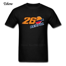 Dani Pedrosa 26 Repsol Vector Logo Tshirt Man Newest Pure Cotton Dani Pedrosa T-shirts TeenBoys XS-3XL Camisetas For Teenboys