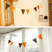 DIY Colorful Triangle Flags Banner Party Bunting For Party Wedding Outdoor Event Store Opening Pennants Garland Decoration