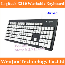 Free shipping Logitech K310 Wired Waterproof Keyboard computer keyboard High Quality