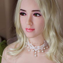 2017 New Realistic Sex Dolls Head, Euramerican Japanese Silicone Sex Dolls, Lifelike Silicone Sex Doll Head with 2 Free Wig(China)