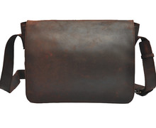 3 first layer of cowhide genuine leather crazy horse leather male one shoulder cross-body 13 laptop bag 3164