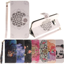 for J3 J5 J1 2015  A3 A5 2016 Case flower Stand Flip Wallet Shell for Samsung Galaxy Note 4 S5 S6 S7 edge plus Grand Prime Coque