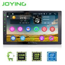 "7""Joying 2GB+32GB Android 6.0 Universal Car Audio Stereo GPS 3G Wifi Bluetooth Radio Automotive Quad Cord HD Multimedia Player"