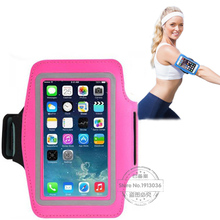 New Waterproof Sport Gym Running Arm bag PU leather running belt case for Iphone 6S/6 plus adjustable mobile phone cases PU PC