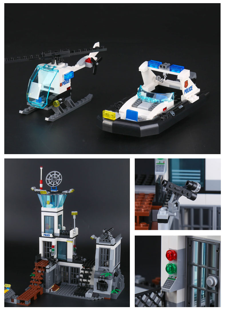 2018 Lepin 02006 Genuine City Series The Prison Island Set 60130 Lego Police 01 02 03 04