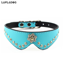 5 Pcs/Lot Leather Rhinestone Pet Dog Collars Rope Set Puppy Training Collar Leash Cat Neck Harness Small Dog Accessories ZL366(China)