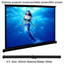CAIWEI New Mini projector screen 4:3 Table Screen 40 inch Portable projection screen Home cinema for DLP LED Projector(China)